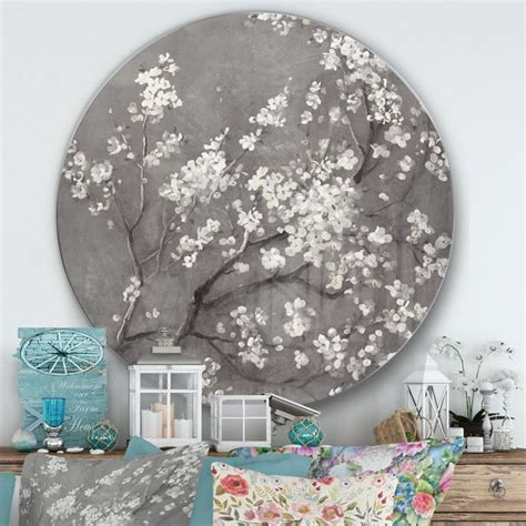There are 694 cherry blossom wall decor suppliers, mainly located in asia. DESIGN ART Designart 'White Cherry Blossoms I' Farmhouse Metal Circle Wall Art - Walmart.com ...