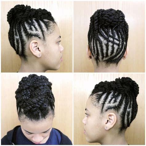 la coiffure protectrice du jour sur cheveux crepus soin