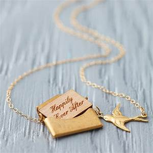 personalised mini love letter necklace in gold by maria With love letter necklace