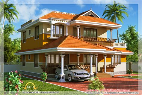 Kerala Style Duplex House - 1900 Sq. Ft - Kerala home
