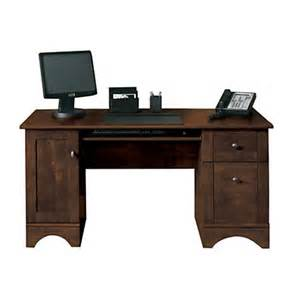 realspace dawson 60 computer desk cinnamon cherry by