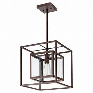 isola 1 light pendant light 12quot x 12quot oil rubbed With rona outdoor pendant lighting
