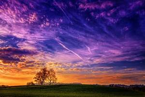 Landscape, Trees, Clouds, Wallpapers, Hd, Desktop, And