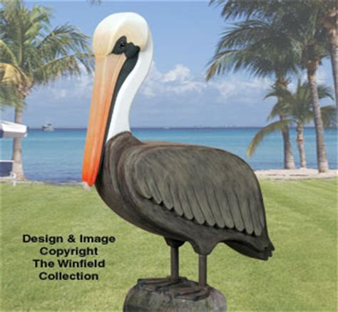 bird woodcraft patterns  life size pelican wood pattern