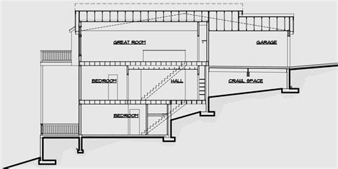 home plans for sloping lots multi family sloping lot plans hillside plans daylight