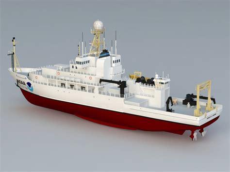NOAA Ocean Research Ship 3d model 3D Studio,3ds Max,Object