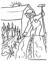 Jardinero Ocupaciones sketch template