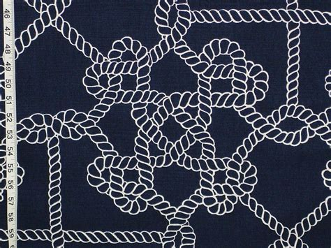 Nautical Upholstery by Nautical Fabric Knot Rope Sailor Sailing From Brick House