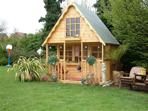 wooden playhouse play house wendyhouse wendy house 8x8 2