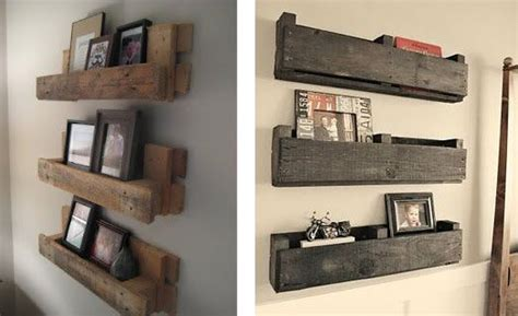 chambre palette bois détournez le bois pour votre déco étagères murales en