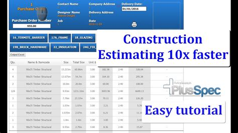 construction estimating software  changing