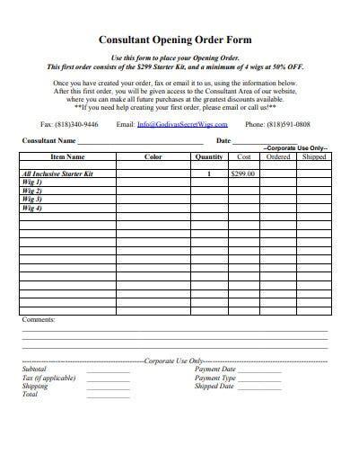consultant form templates    premium
