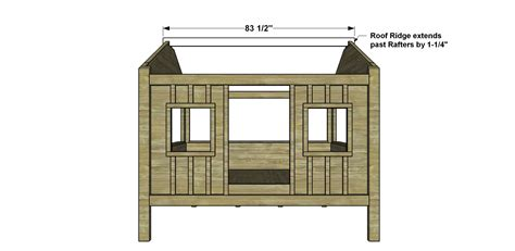 how to build a full size loft bed with desk free diy furniture plans how to build a full sized