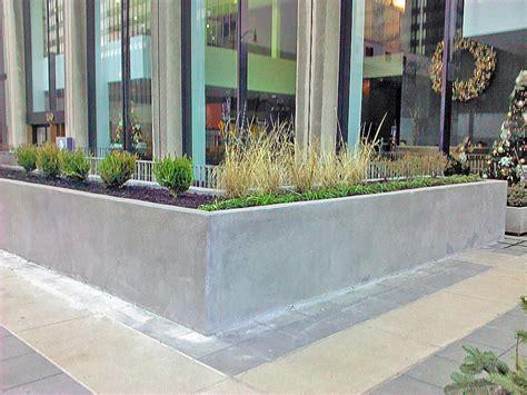 planter concrete concrete planter box designs homesfeed plus outdoor planters 2017 l shape for savwi com
