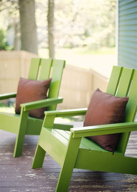 ana white modern adirondack chairs diy projects