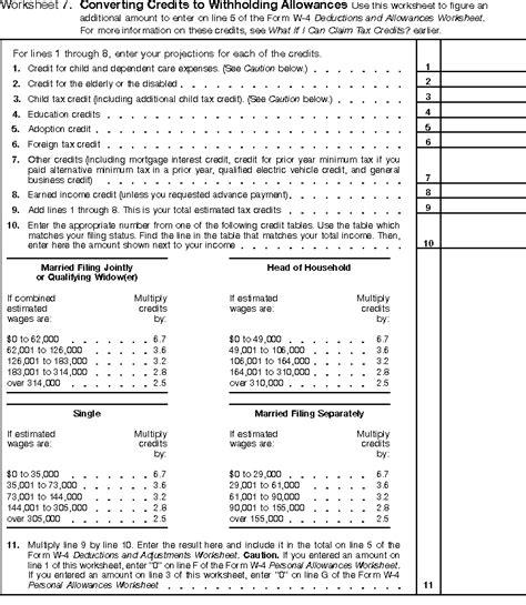 worksheets irs personal allowance worksheet opossumsoft