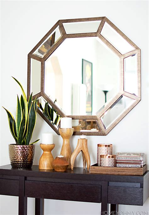 large octagon mirror for the entryway ikea decora