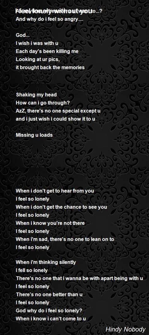 feel lonely   poem  hindy  poem hunter