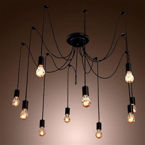 edison style 10 lights bulb chandelier ceiling light