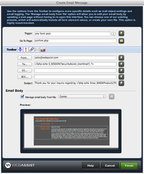 triggered send data extension template send email from a web page universal email dreamweaver