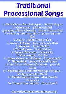 wedding processional processional songs and traditional With wedding party ceremony entrance songs