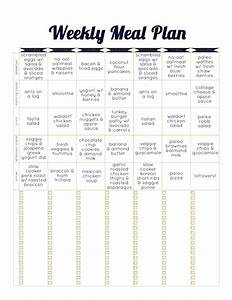 always underfoot paleo template meal plan week 2 With two week meal plan template