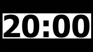 timer 75 minutes 20 minute countdown timer with alarm youtube