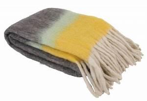 Plaid Jaune Et Gris : plaid fading 130 x 210 cm gris jaune klevering ~ Teatrodelosmanantiales.com Idées de Décoration