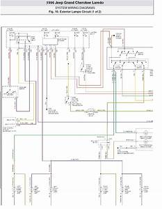 1996 Jeep Grand Cherokee Laredo System Wiring Diagrams Exterior Lamps Circuit Part 1