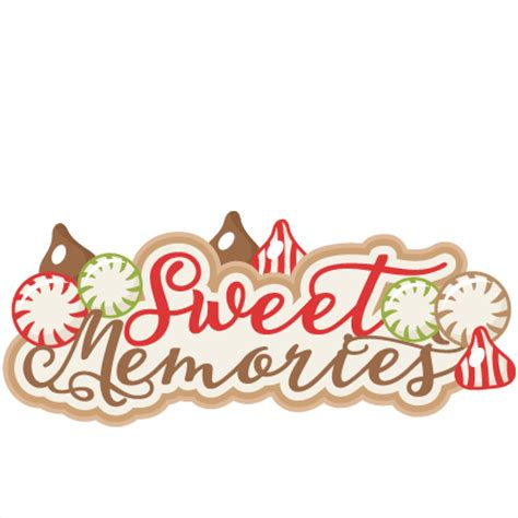 scrapbook title for christmas foods on the table sweet memories scrapbook title scrapbook clip cut outs for cricut svg cut