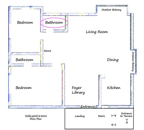 Bathroom Floor Plans India by Creating A Guest Bathroom In The India Pied 224 Terre