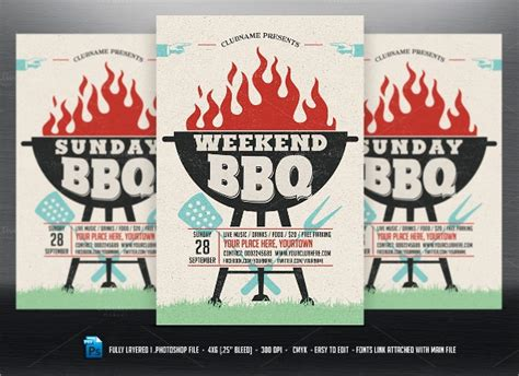 bbq flyer templates sample templates