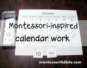 montessori inspired calendar work   printable