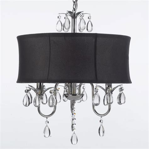 g7 black 834 3 chandeliers with shades chandelier