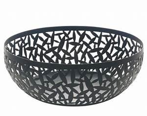 Corbeille à Pain Design : corbeille cactus 29 cm noir alessi ~ Teatrodelosmanantiales.com Idées de Décoration