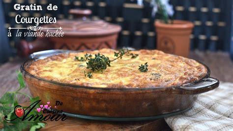 cuisine soulef gratin de courgettes à la viande hachée recette simple et