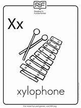 Coloring Alphabet Printable Xylophone Parents Preschool Preschoolers sketch template