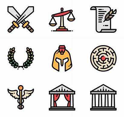 Ancient Greece Greek Clipart Icons Icon Letter