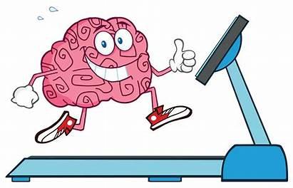Brain Cartoon Healthy Exercise Running Heart Treadmill