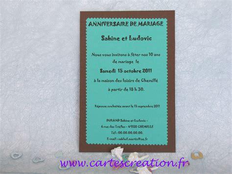 anniversaire 10 ans de mariage cartes carte d anniversaire 10 ans de mariage cartes cr 233 ation