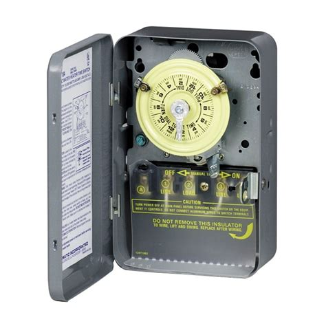 lowes outdoor light timer intermatic mechanical residential hardwired timer lowe 39 s