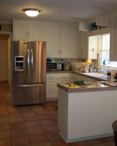 saved  refrigerator position kitchen layout kitchen remodel small small  shaped kitchens