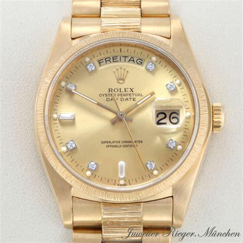rolex gold diamanten herren rolex uhr day date gold 750 diamanten herren armbanduhr