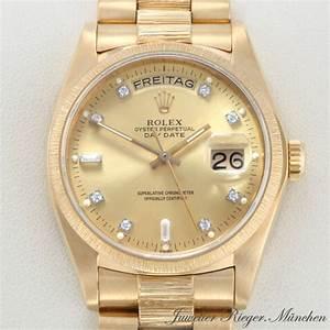 Rolex Uhr Herren Gold : rolex uhr day date gold 750 diamanten herren armbanduhr herrenuhr 348 ebay ~ Frokenaadalensverden.com Haus und Dekorationen