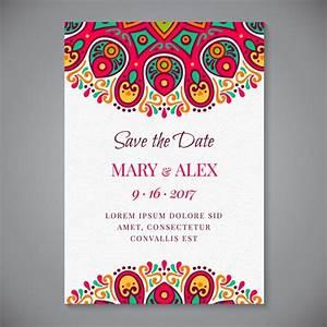 mandala wedding invitation vector free download With wedding invitation design freepik