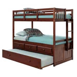 83 in twin over twin bunk bed with trundle