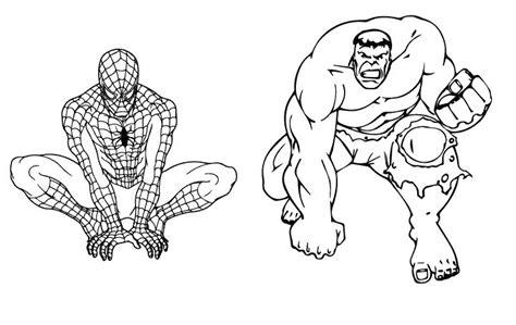 spiderman  hulk coloring page coloring pages hulk