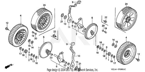 Honda Hrbk Sxa Lawn Mower Usa Vin Mzba