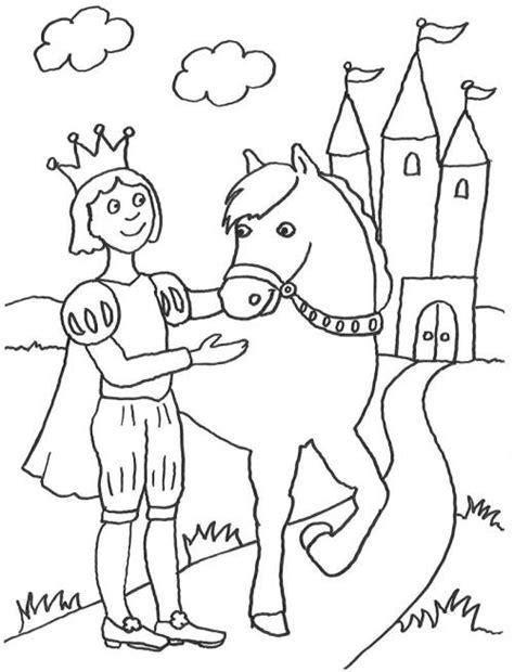 kostenlose malvorlage maerchen prinz und sein pferd zum