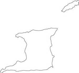 trinidad  tobago outline map